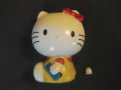 Hello Kitty Piggy Bank, Japanese release.  Vintage.  Made over 40 years ago.