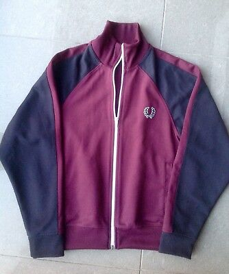 Boys Fred Perry Funnel Neck Zip Up Track Top - Size M (10-12 Years)