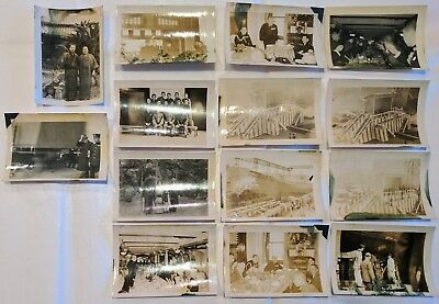 Lot of 14 WWII IMPERIAL JAPAN SUBMARINE LAUNCH NAVY CEREMONY Original Photos