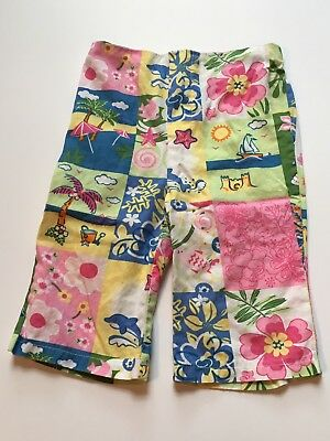 Starting Out pink green blue tropical beach flamingo floral pants 18M 18 mos