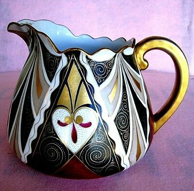 Alhambra Pitcher.....Vienna Austria......Hand Painted....Large and Heavy....Rare