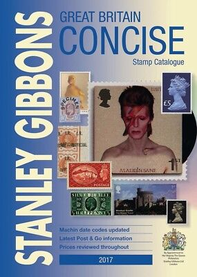 Stanley Gibbons 2017 Great Britain Concise Stamp Catalogue - Brand New