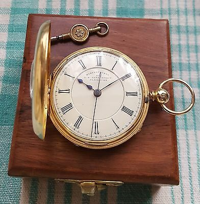 Gents,18ct Gold, Fusee Half Hunter Pocket Watch Centre Seconds 114.8g