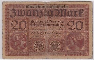 (N1-38) 1918 Germany 20 marks bank note (38AM)