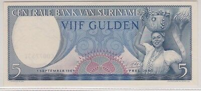 (N1-41) 1963 Suriname 5 GULDEN Bank note (41AP)