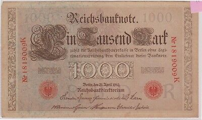 (N1-40) 1900 Germany 1000 MARKS Bank note (40AO)
