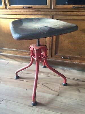 Industrial French Stool Chair Factory Machinist Not Singer Evertaut Henri Liber