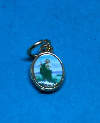 Small Gold Tone Charm St Jude Medal Desperate Difficult Cases Miracles Hope