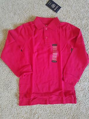 Nwt boys m (5/ 6) Izod School Uniform red long sleeve Polo Shirt