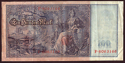 1910 100 Mark Germany vintage paper money banknote currency Old antique rare
