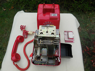 VINTAGE AUSTRALIAN RED PAY PHONE 1970's