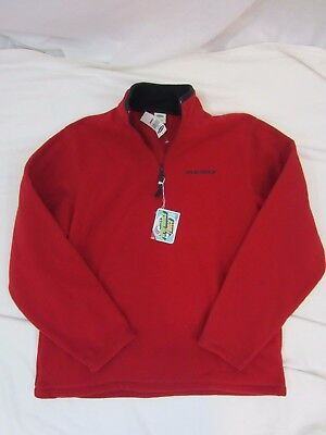 Old Navy 3/4 Zip Fleece Pullover Jacket Size Large - Red NWT