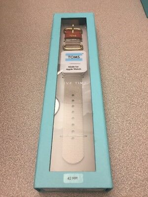 New In Box Toms Apple Watch Band 42mm - Nylon GRAY