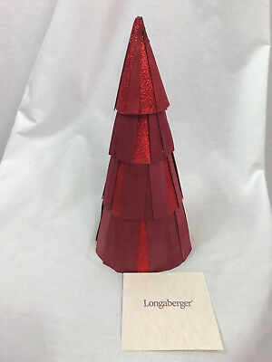 Longaberger Red Glittler Tree, Small, New In Box, 90438