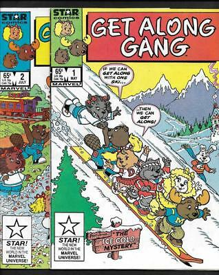 Get Along Gang #1&2 Nm 9.4-White Pages!-Marvel  Comics 1986-No Reserve