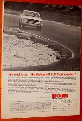 1965 Mustang Cornering On Track For Koni Shocks Vintage Ad - American Classic
