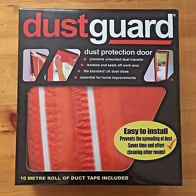 DUSTGUARD Dust Protection Door Guard Barrier - Room Seal 2.15m H X 950mm W - NEW