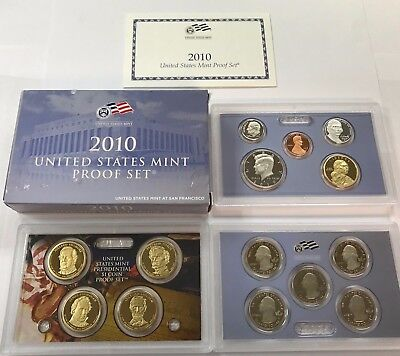 2010 S COMPLETE PROOF SET * ALL 14 COINS * US Mint Sealed Box w COA