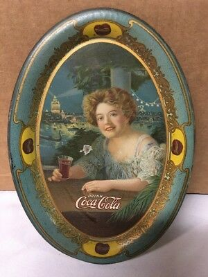 1909 Coca Cola Coke Tip Tray Hilda Clark St Louis Worlds Fair