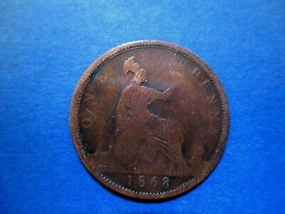 Great Britain Penny 1868 Victoria (priced to sell)