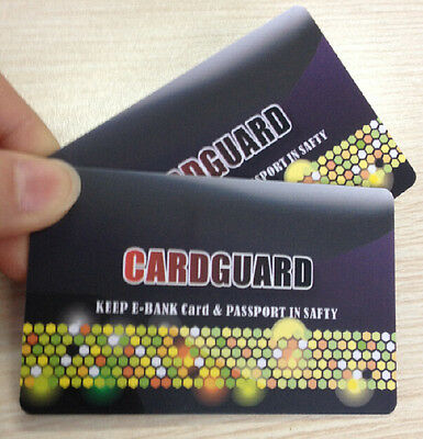 4 x RFID BLOCKING CARDS  PROTECT YOUR IDENTITY LIKE_SKIM_CARD