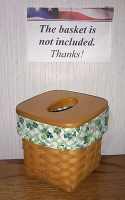 Tall Tissue Basket Liner from Longaberger Lucky You fabric.  New & Crisp