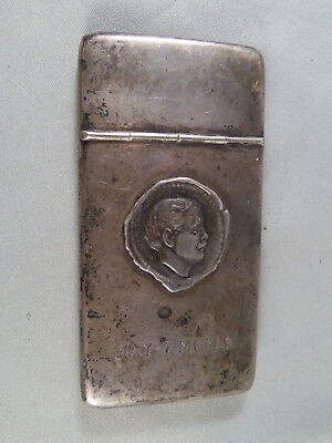 "Antique ""william Travers Jerome"" Silver Case *rare Legal Historical Item*"