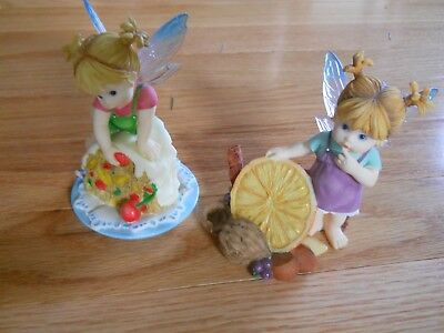 My Little Kitchen Fairies lot of 2 Fruit and Nut, Fruitcake 2004 Christmas