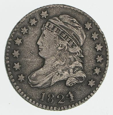 1824/2 JR-1 Capped Bust Dime- Circulated *2349