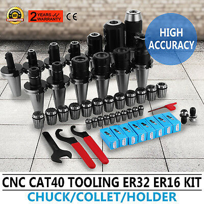 CAT 40 Tooling Kit for Haas Fadal CNC Mill-ER Chuck Collet Holder ER32/16 Steel