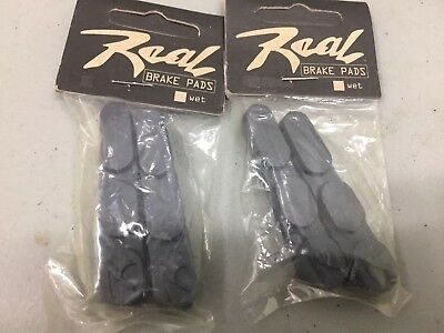 Vintage Lot of Four (4) REAL Bicycle  Brake Pads.     WET