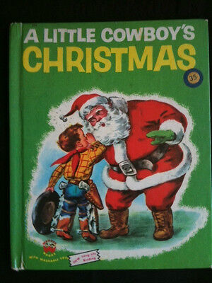 Vintage 1951 A Little Cowboy's Christmas Wonder Book - Ideal Baby Boomer Gift