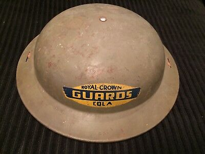 """Child Ww 2 Military Advertising Helmet """"royal Crown Cola Guards"""""""