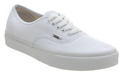Vans Authentic True White Kids Youth Canvas Shoes Sneakers All Sizes 12 and 3.5