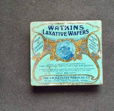 Vintage Watkins Laxative Wafers Tin Winona MN Truly A Laxative Candy