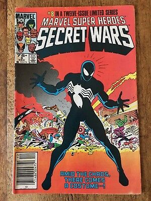 MARVEL SUPER-HEROES SECRET WARS #8 VF 1st VENOM AS ALIEN BLACK COSTUME 1984 KEY