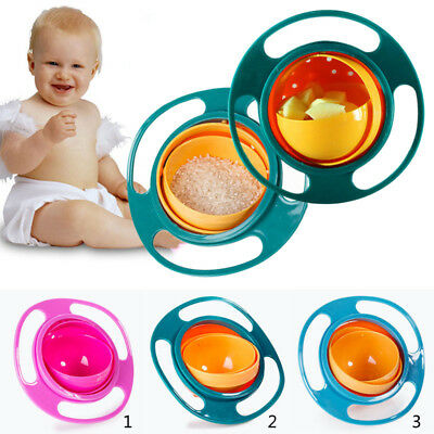Creative 360 Degree Rotate Baby Bowl UFO Spill Resistant Dish Toy