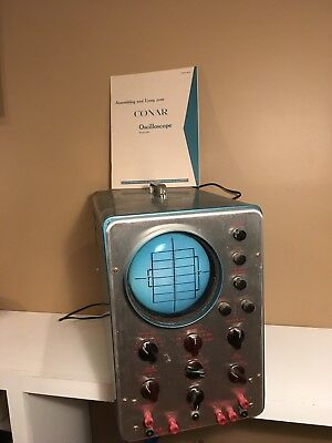 Vintage Conar Oscilloscope 250 And Manual Good Condition