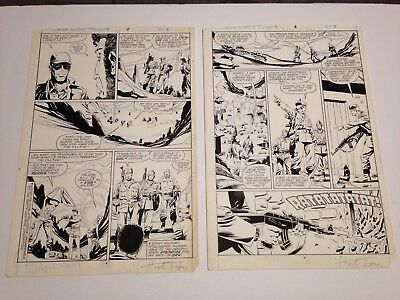 Marvel GI Joe ARAH Special Missions Issue #9 Herb Trimpe Signed Original Art