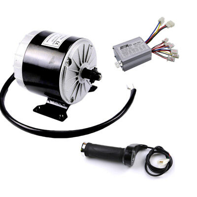 24V 350W Motor Brush + Controller + Throttle Electric Bicycle Scooter Bike ATVs