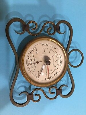 Vinage French Barometer Thermometer