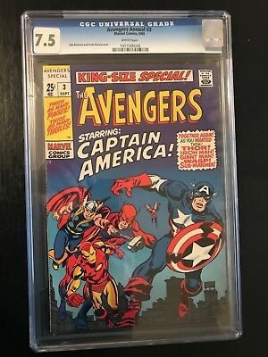 1969 Avengers King-Size Special Annual #3 CGC 7.5 WHITE PAGES *** NO RESERVE ***