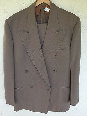 1940's Men's Double Breasted Howard Gabardine Suit Size 42 Clark Kent