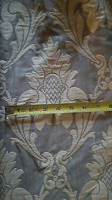 FRENCH DAMASK 12.5 Yard roll~ Horizontal design~upholstery or valance panels
