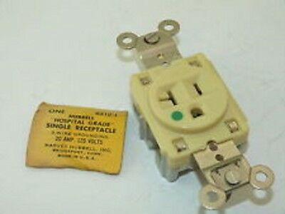 Hubbell  - Hospital Grade Single Receptacle Outlet 20A 125V - Lot of 6 New