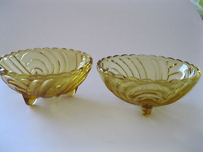 Dishes hobnail depression glass amber