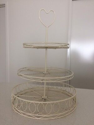 Wire, 3 Teir, Cup Cake Stand