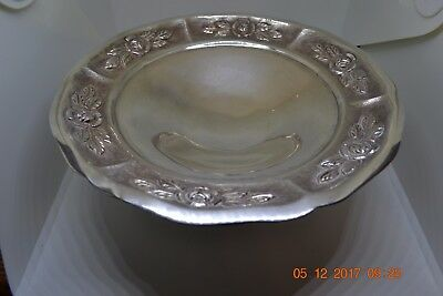 Vintage Sterling Silver Mexico Aztec Rose Compote Scrap Or Use 290 Grams