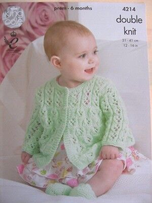 New King Cole baby jackets and booties pattern