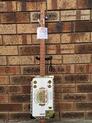 StrummA 3 string cigar box guitar with Arturo Fuente box and pick-up, made in UK